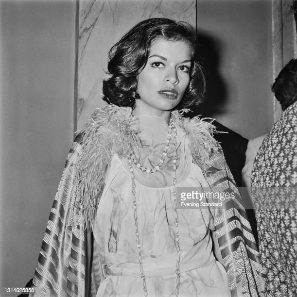 Nicaraguan model and actress Bianca Jagger, the wife of singer Mick Jagger of the Rolling Stones, attends the first night of the musical 'Billy' at...