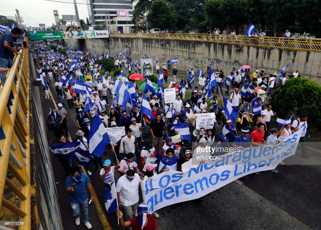 NICARAGUA-UNREST-OPPOSITION-MARCH : News Photo