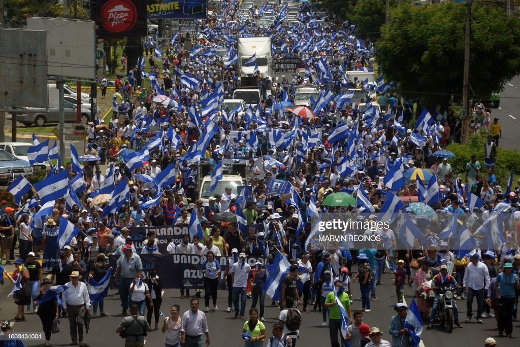 NICARAGUA-UNREST-PROTEST : News Photo