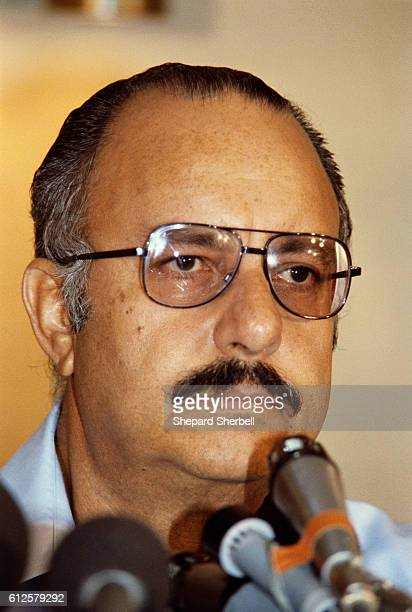 Nicaraguan president Anastasio Somoza Debayle attends a press conference Anastasio Somoza Debayle son of former president Anastasio Somoza Garcia...