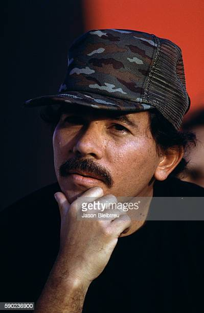 Nicaraguan president Daniel Ortega attends a ceremony commemorating the 10th anniversary of the Sandinista revolution