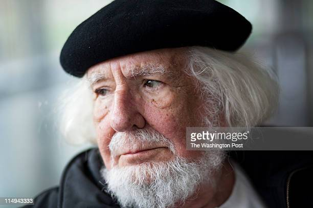 Nicaraguan revolutionary poet and Catholic priest Ernesto Cardenal reads some of his latest poetry at the Loyola Notre Dame Library in Baltimore MD...