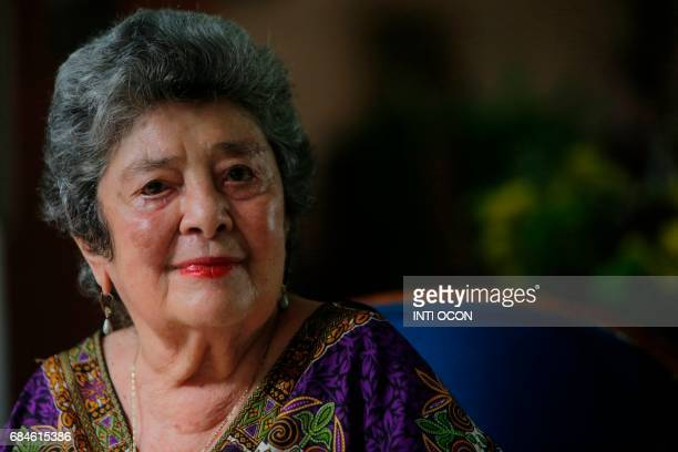 Nicaraguan writer Claribel Alegria is interviewed at her home after winning the Queen Sofia Prize for Latin American Poetry awarded by the University...