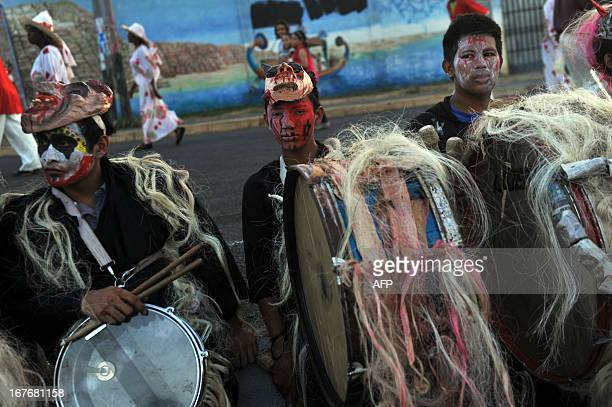 Nicaraguan youngsters prepare to take part in the Joy for Life Carnival in Managua on April 27 2013 AFP PHOTO/Hector RETAMAL