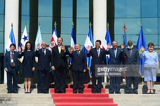 Nicaragua's ViceChancellor Dennis Moncada Panama's VicePresident Isabel Saint Malo Guatemala's President Alejandro Maldonado Costa Rica's President...
