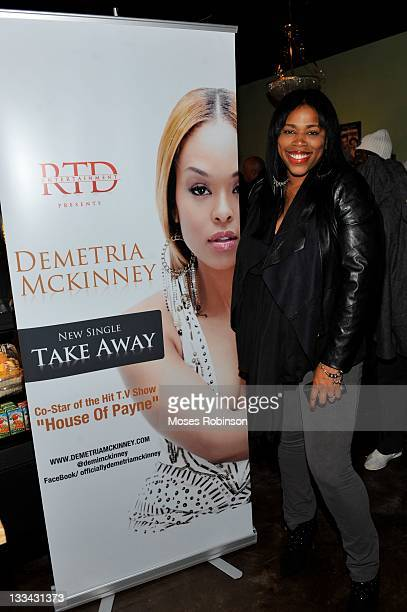 Nicci Gilbert attends the Demetria Mckinney official listening party at The Green Room Lounge on November 18 2011 in Atlanta Georgia