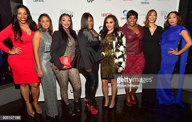 Nicci Gilbert Luchia Ashe Kim Smedley Sara Stokes Kelly Price Christine Beatty and Chrystale Wilson attend the From The Bottom Up Reception at...