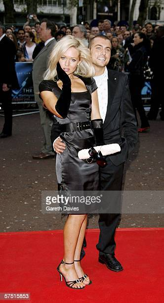 Nicci Legg and actor Paul Danan arrive at the world premiere of 'Three' at Odeon West End on May 2 2006 in London England