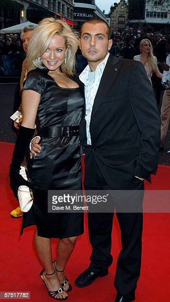 Nicci Legg and actor Paul Danan arrive at the World Premiere of 'Three' at Odeon West End Leicester Square on May 2 2006 in London England