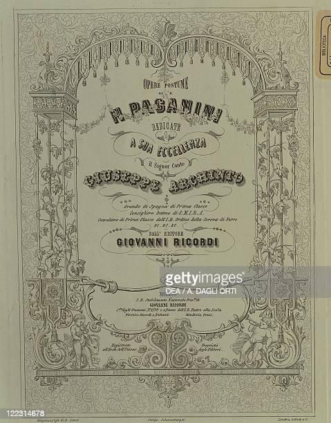 Niccolò Paganini Works Giovanni Ricordi Edition Milan