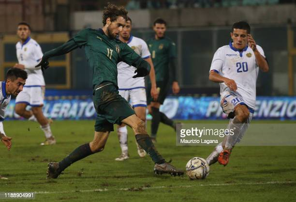 Niccolò Zanellato during the UEFA U21 European Championship Qualifier match between Italy and Armenia at Stadio Angelo Massimino on November 19 2019...