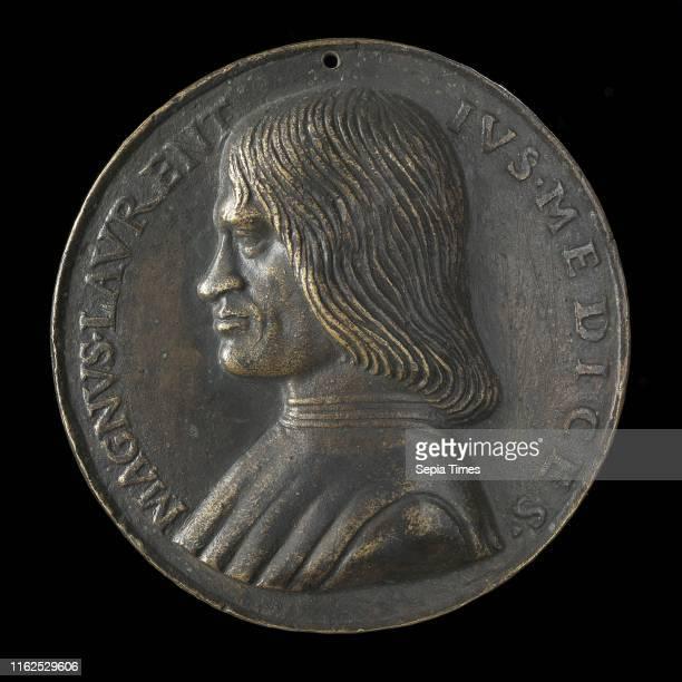 NiccolÌ_ Fiorentino Lorenzo de' Medici il Magnifico 14491492 bronze Late cast hollow