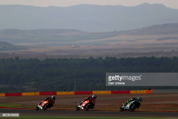 Niccolo Antonelli of Italy and Red Bull KTM Ajo Bo Bendsneyder of the Netherlands and Red Bull KTM Ajo and Andrea Migno of Italy and SKY Racing Team...