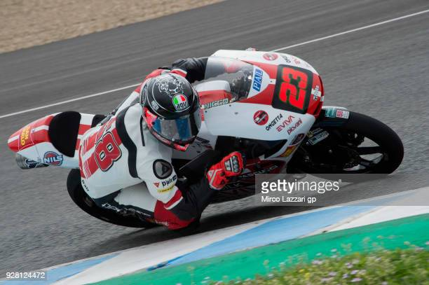 Niccolo Antonelli of Italy and Sic 58 Squadra Corse Honda rounds the bend during the Moto2 Moto3 Tests In Jerez at Circuito de Jerez on March 6 2018...