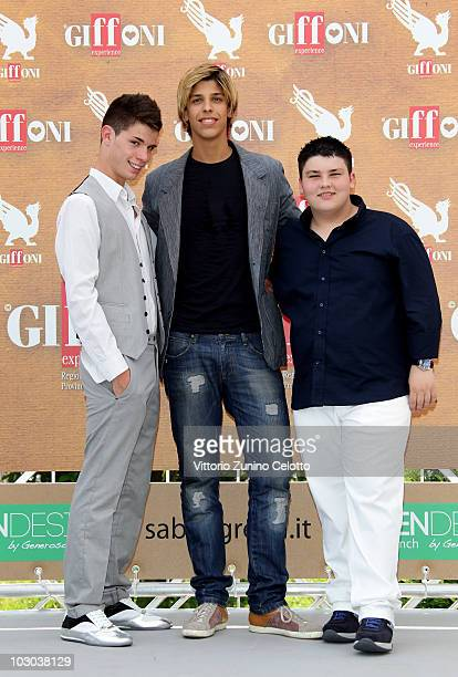 Niccolo Centioni Filippo Vitte Nunzio Giuliano attend a photocall during the Giffoni Experience 2010 on July 22 2010 in Giffoni Valle Piana Italy
