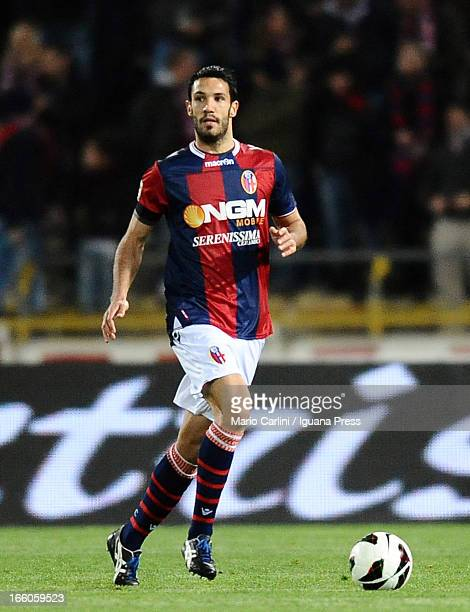 Niccolo Cherubin of Bologna FC in action during the Serie A match between Bologna FC and Torino FC at Stadio Renato Dall'Ara on April 6 2013 in...