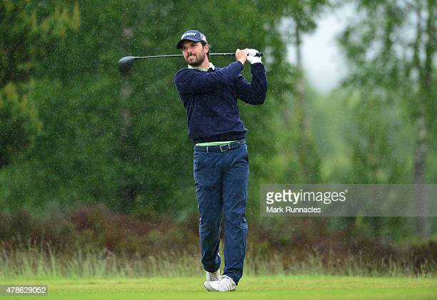 Niccolo Quintarelli of Italy in action during the second round of the 2015 SSE Scottish Hydro Challenge at the MacDonald Spey Valley Championship...