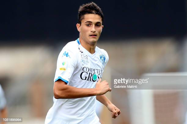 Niccolo' Ricchi of Empoli FC U19 in action during the friendly match between Empoli FC and Empoli FC U19 on October 11 2018 in Empoli Italy
