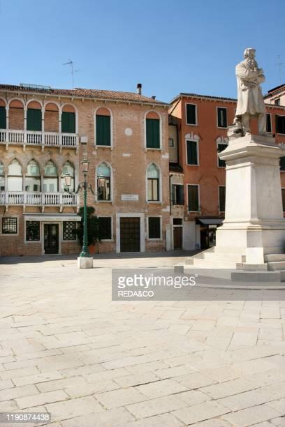 Niccolo Tommaseo statue Campo Santo Stefano Sestiere Dorsoduro Venice Veneto Italy