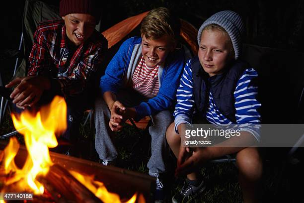 ニースと、キャンプファイヤーで暖かさ