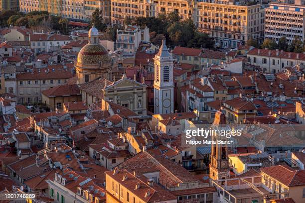 nice cathedral - alpes maritimes stock pictures, royalty-free photos & images