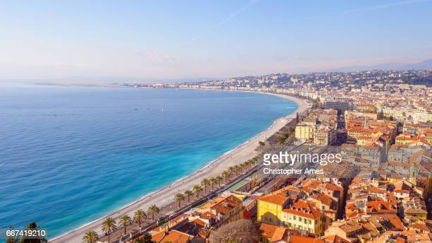 Nice City Promenade Beach and Mediterranean Sea France