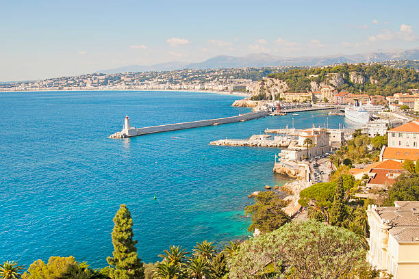 Nice Coastline and Harbour, France