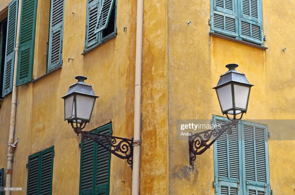 Nice (south-eastern France, French Riviera): colourful building facades in the Old City of Nice.