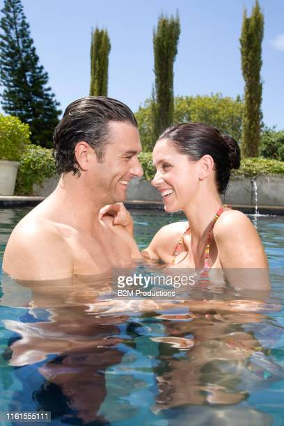 nice couple in swimming pool - 2010 2019 stock pictures, royalty-free photos & images