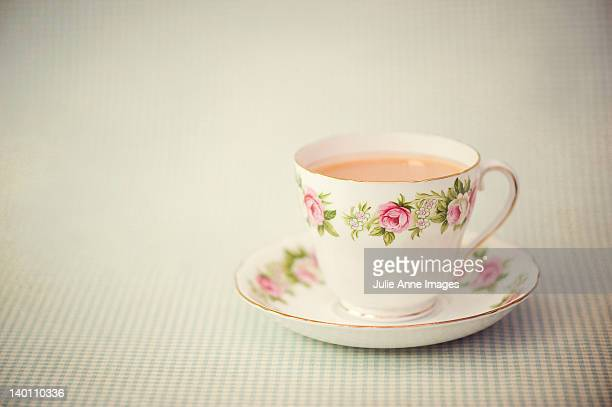 nice cup of tea - saucer stock pictures, royalty-free photos & images