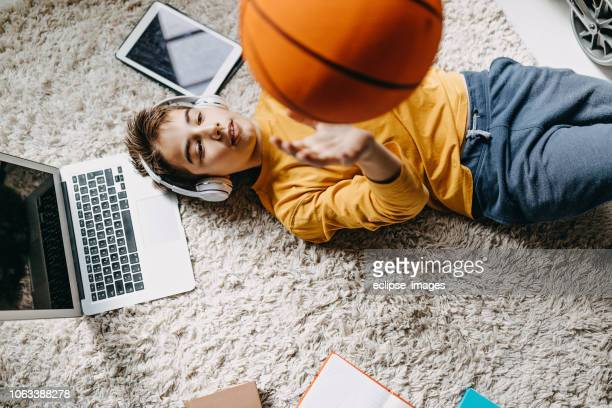 nice day to hang out with ball - basketball sport stock pictures, royalty-free photos & images