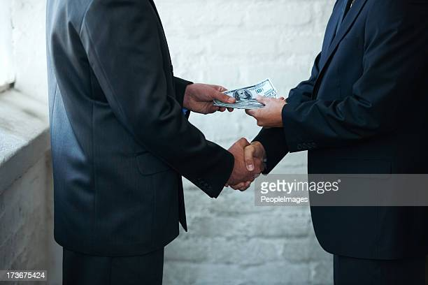 nice doing business with you - corruption stock pictures, royalty-free photos & images