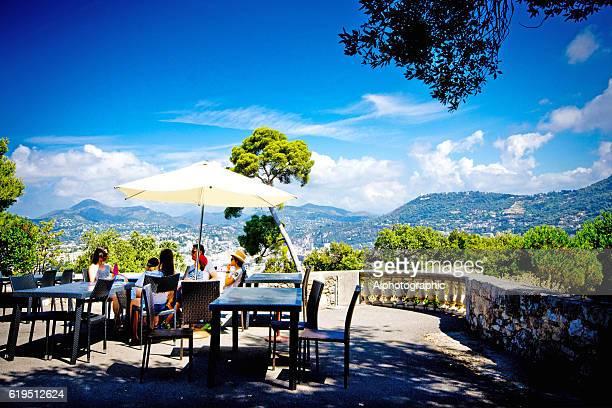 nice france castle hill - côte d'azur photos et images de collection