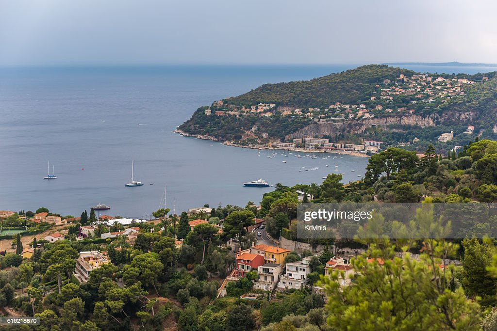 Nice, France: panoramic top view of Port : Stock-Foto