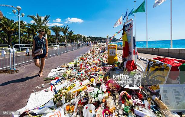 Nice, France Terrorist Attack Memorial Seafront Flowers