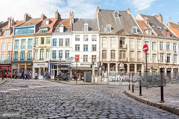 nice houses in the center of the old town of lille - lille stock pictures, royalty-free photos & images