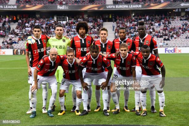 Nice lineup before the Uefa Europa League match between OGC Nice and Vitesse Arnhemon September 28 2017 in Nice France
