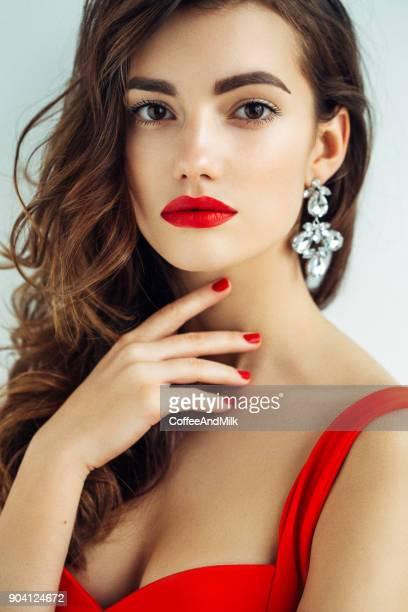 Nice looking woman with beautiful earings