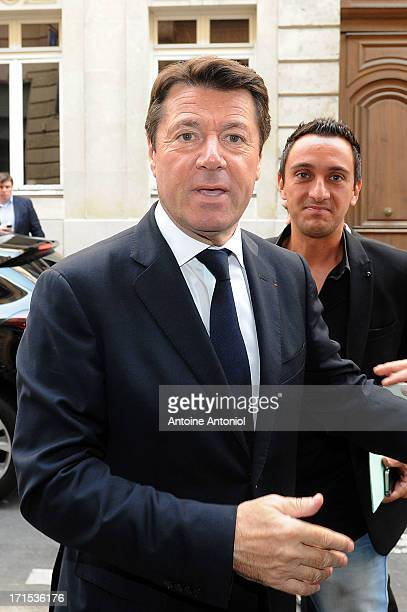 Nice Mayor Christian Estrosi arrives at the EURO 2016 Logo Slogan Launch on June 26 2013 in Paris France