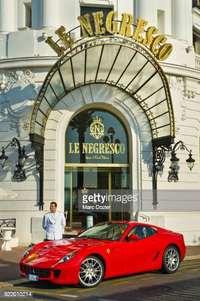 nice negresco hotel - ferrari stock pictures, royalty-free photos & images