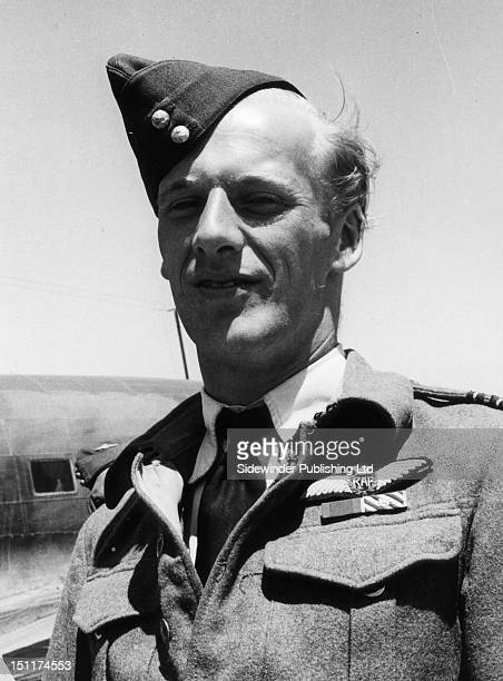 nice outdoor portrait of Warburton the legendary and unlikely ace of 69 Squadron Malta Exact date unknown
