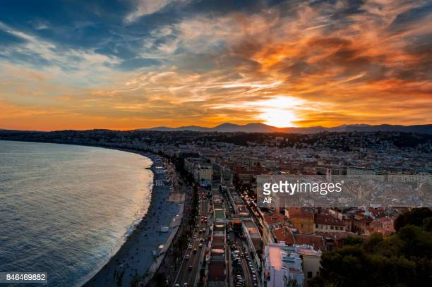 Nice panorama from castle hill park, Nice, France