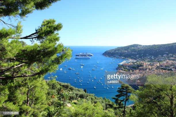 panorama de nice - côte d'azur photos et images de collection