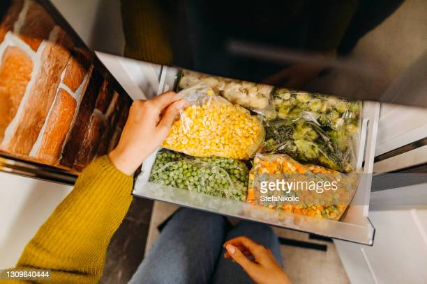 nice separated food in fridge - frozen stock pictures, royalty-free photos & images