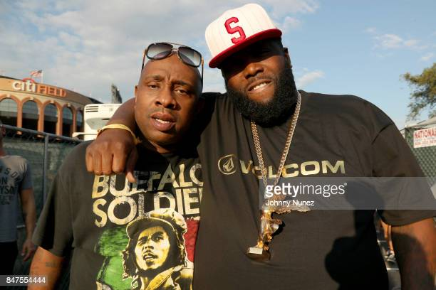 Nice Sleep and Killer Mike pose backstage during the Meadows Music And Arts Festival Day 1 at Citi Field on September 15 2017 in New York City