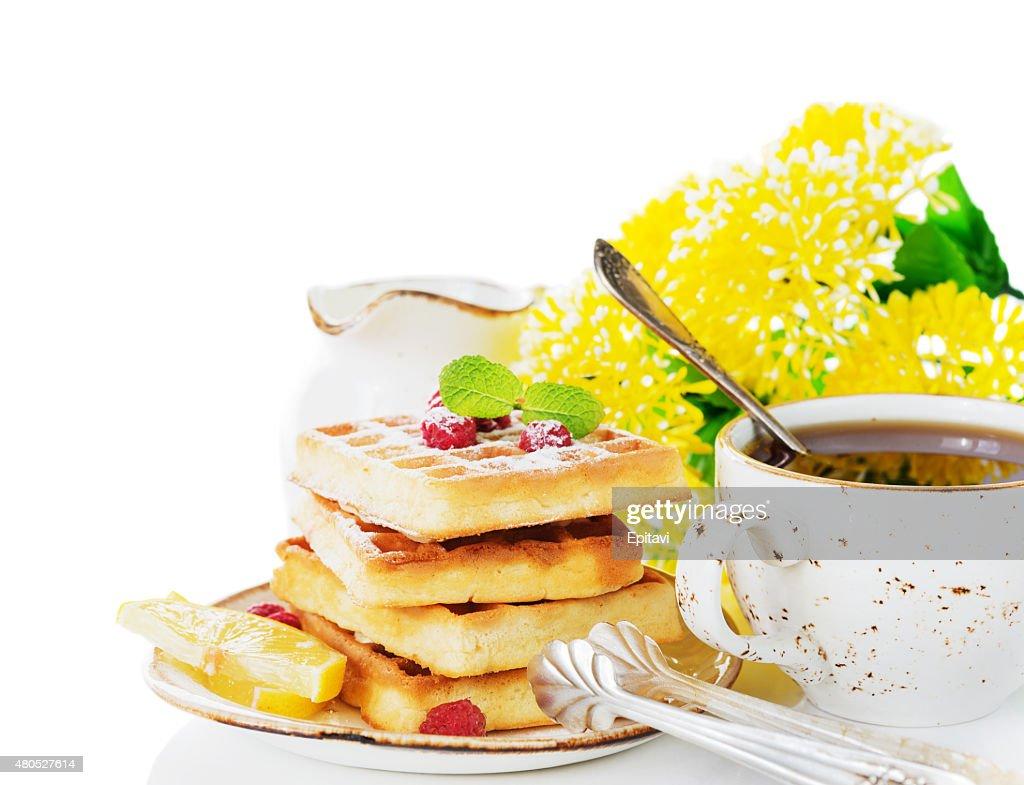 Schönen sonnigen Frühstück : Stock-Foto