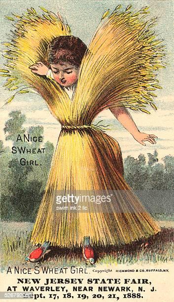 A Nice SWheat Girl Postcard
