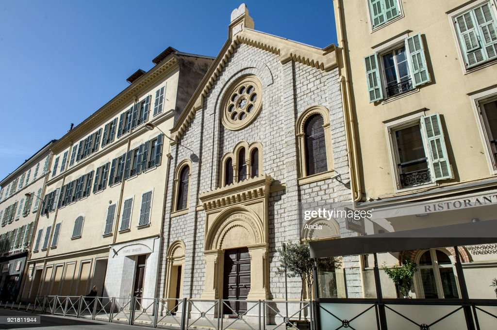 Nice (south eastern France, French Riviera): the Great Synagogue.
