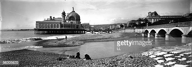 Nice The palais de la JeteePromenade View from the beach about 1900