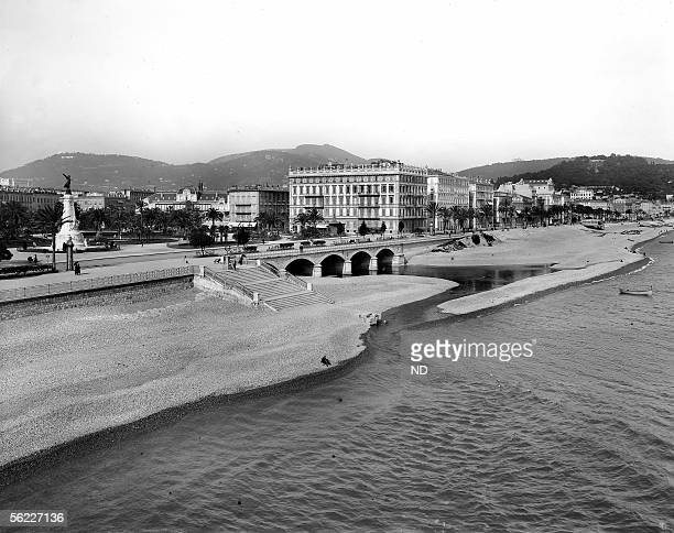 Nice The place Massena and the mouth of the Paillon about 1900